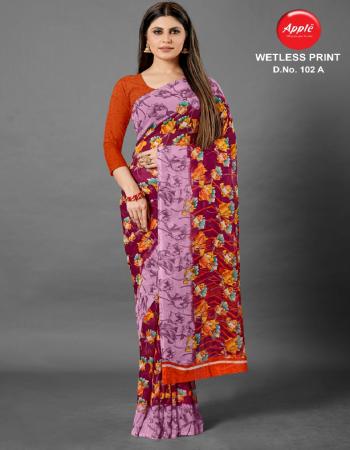 maroon georgette fabric printed work ethnic