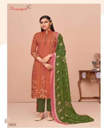 light brown top - pure cotton printed 2.50m   bottom - pure cotton print patiyala 2.50 m   dupatta - pure cotton 2.25m fabric printed work festive