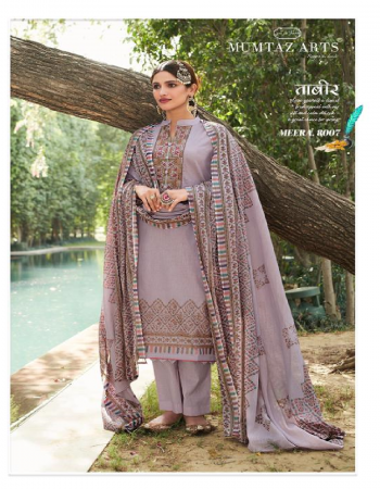 violet top - pure lawn cotton kani print with heavy embroidery   bottom - pure lawn dyed  2.80 m app   dupatta - pure lawn mul - mul digital printed fabric kani print with heavy embroidery work running