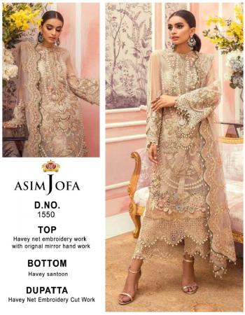 white top- heavy net embroidery work with original mirror hand work | bottom - heavy santoon | dupatta - heavy net cut work [ pakistani copy ] fabric embroidery work party wear