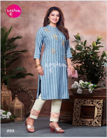 sky blue rayon fabric embroidery work casual