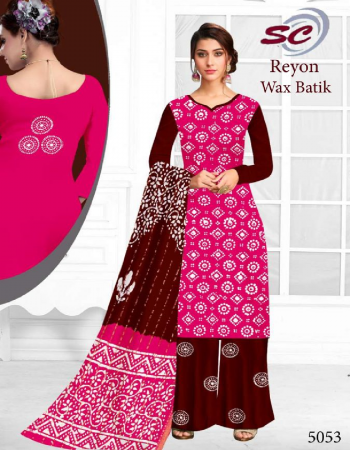 pink rayon | top - 2.50 m | bottom - 2.0 m | dupatta - 2.25 m fabric bandhej printed work festive