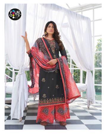 black top - heavy parampara silk with embroidery work and sequence work | bottom - rayon bandhej print ( cut - 2.75 ) | dupatta - muslin bandhej print fabric embroidery work party wear
