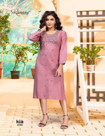dark pink rayon  fabric embrodiery  work casual