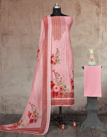 pink top - cotton satin digital print with sequance work 2.25 m | bottom - soft cotton dyed 2.7 m | dupatta - pure lurex cotton masleen digital print 2.25m fabric printed work ethnic