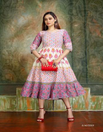 pink rayon  fabric printed work casual