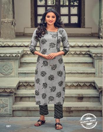 grey kurti - pure rayon slub with capsual print | pant - pure rayon slub with capsul print fabric printed work running