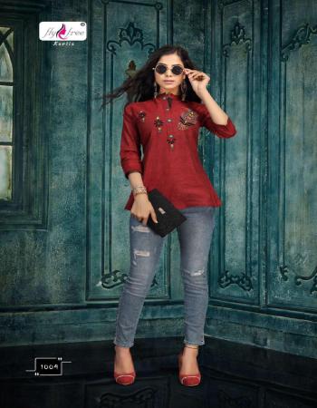 maroon handloom cotton  ( length - 32 ) fabric embroidery work casual