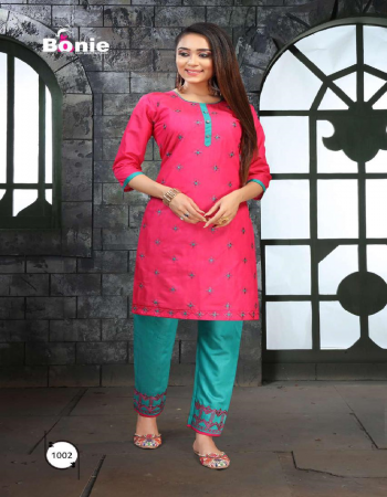 pink heavy rose silk with embroidery fabric embroidery work casual