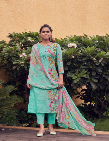 sky blue top - 100 % pure cotton digital print ( 2.50 m) | dupatta - pure nazmeen dupatta ( 2.30 m) | bottom - soft cotton salwar ( 3 m approx) fabric digital printed work ethnic