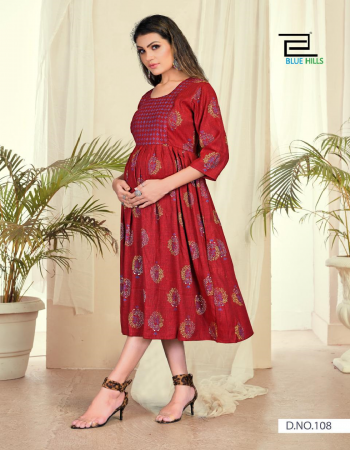 maroon rayon  fabric printed work casual