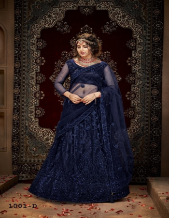 navy blue blouse - net with silk - inner - satin | lehenga - net with silk satincan can & canvas in border | dupatta - net fabric multi sequance embroidery work casual