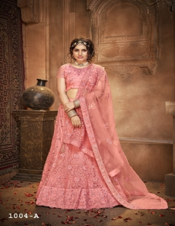 light pink blouse - net with silk - inner - satin | lehenga - net with silk satincan can & canvas in border | dupatta - net fabric multi sequance embroidery work casual