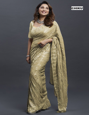 chiku georgette  [ master copy ] fabric sequance work work casual
