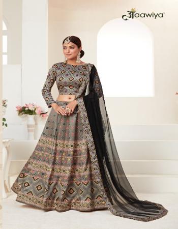 black lehenga - ajmeri silk | blouse - almeri silk | dupatta - heavy net fabric printed work casual