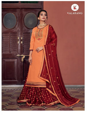 peach top - jaam silk cotton with embroidery work | bottom - pure silk viscose jari butti ready wear | dupatta - pure chinon with embroidery with brocade border fabric embroidery work casual