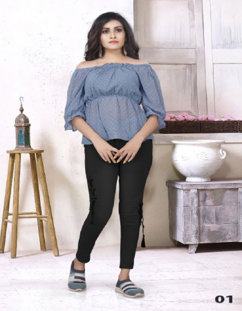 blue faux georgette fabric embroidery work casual