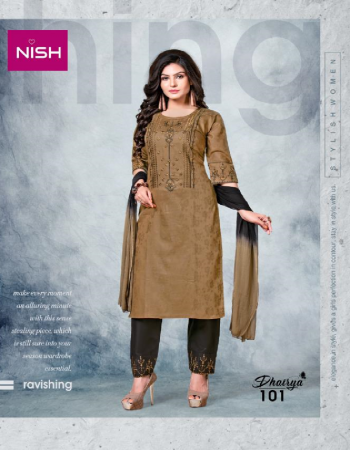 light brown top - cotton heavy jacquard fabric | bottom - cotton jam satin pent | dupatta - shiffon dupatta fabric embroidery work festive