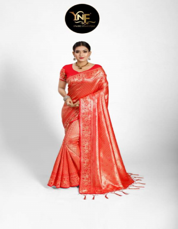 red tanchoi silk fabric jacquard + weaving work casual