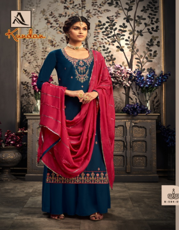 rama blue top - pure zam cotton fancy embroidery with sleeve work | bottom - pure chinon dyed fancy heavy embroidery dupatta  fabric embroidery work casual