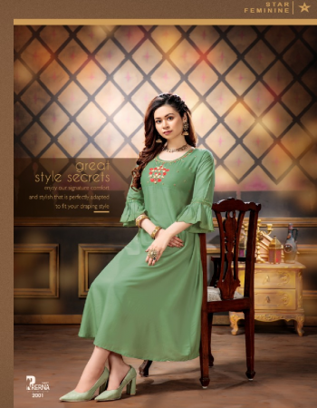 light green rayon fabric embroidery work ethnic