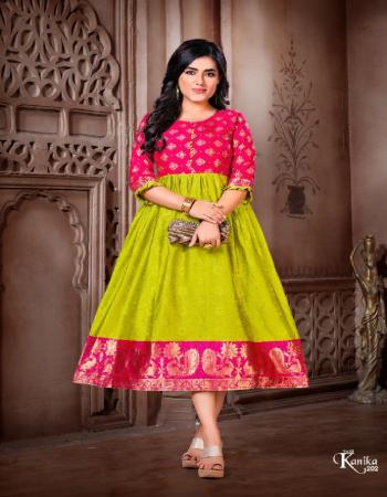 green ora silk fabric jacquard + weaving work casual
