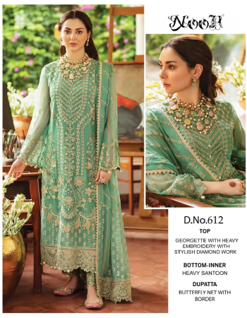 pastal green top -  georgette with heavy embroidery with latkan n diamond work | bottom / inner - dul shantun with patch work | dupatta - butterfly net with embroidery n latkan [ pakistani copy ] fabric embroidery work casual