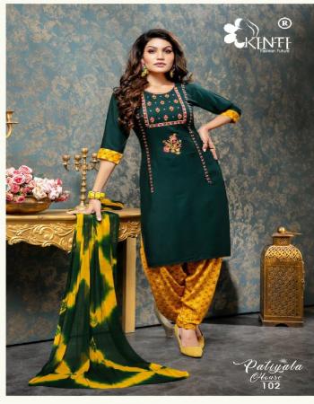 dark green top - rayon 3/4th sleeve ( length - 40) fancy embroidery | bottom - rayon print patiyala | dupatta - nazneen shiboori dyeing fabric fancy embroidery work casual