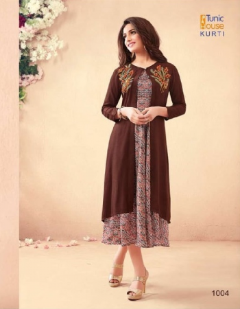 brown pure modal digital print + satin + maslin + rayon & heavy embroidery work fabric heavy embroidery work casual