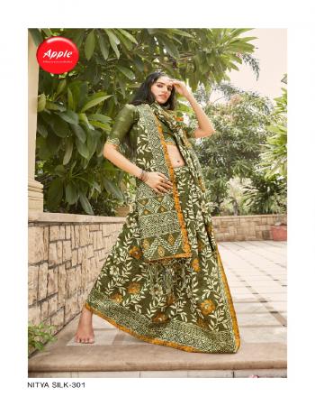 green silk blend  fabric printed work casual