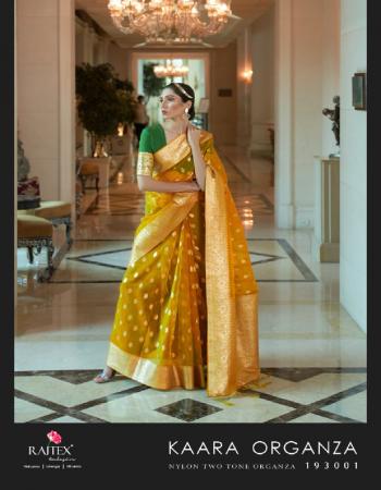 yellow organza  fabric jacquard + weaving work casual