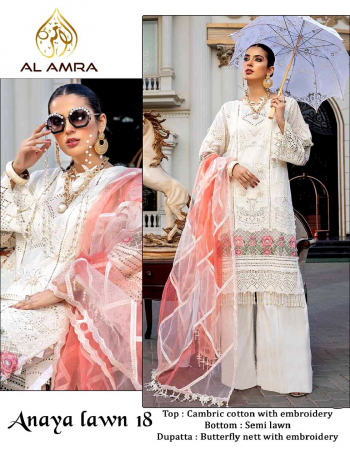 white top - cambric cotton with heavy chikankari work and lots of embroidery patches | bottom - semi lawn | dupatta - nett with embroidery / tubby silk digital printed [ paksitani copy] fabric heavy chicken kri work + heavy embroidery work casual