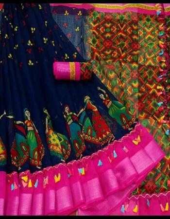 black saree - semi linen cotton | blouse - raunning | saree length - 6.30 m fabric printed  work casual