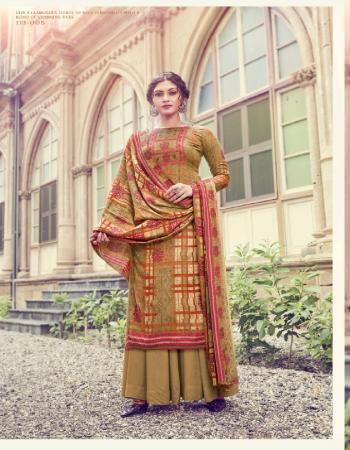 brown top - pure pashmina print ( 2.50 m) | dupatta - pure pashmina print excellent premium quality ( 2.50 m) | bottom - european spun pashmina ( 3.00m) fabric printed work casual