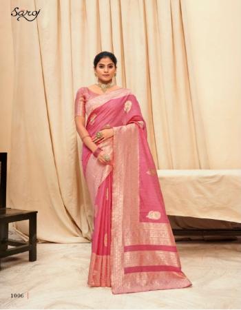 pink linen  fabric jacquard + weaving work ethnic