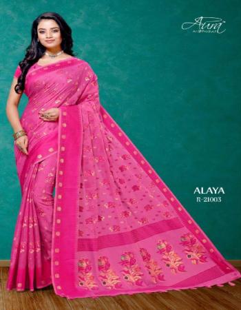 pink cotton fabric printed work festive