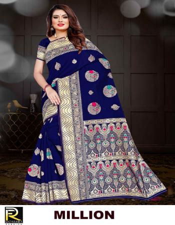navy blue puremium silk fabric jacquard + weaving work casual