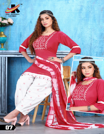 pink top - heavy rayon 14 kg with embroidery sequance work | bottom - heavy rayon print patiyala | dupatta - nazmeen  fabric embroidery + sequance  work casual