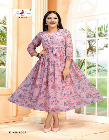 baby pink georgette | length - 50 fabric print  work casual