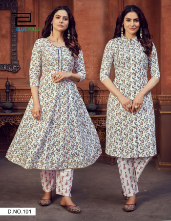 white top - cotton cambric print 1st kurti - anarkali ( with gota patti ) | length - 48 | 2nd kurti - princess cut | length - 44 | bottom - pure cotton cambric | note [ packing of 2 top and one bottom per piece packing ] fabric print  work party wear