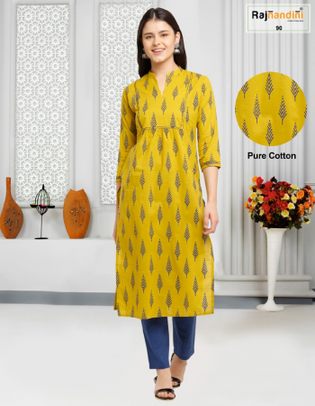 yellow pure cotton jaipuri printed fabric print  work party wear