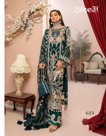 rama green top - georgette with heavy embroidery with latkan n diamond work | bottom / inner - dul shantun with patch work | dupatta - butterfly net with heavy embroidery n latkan [ pakistani copy ] fabric heavy embroidery work casual