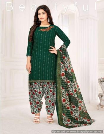 dark green cotton fabric printed  work casual