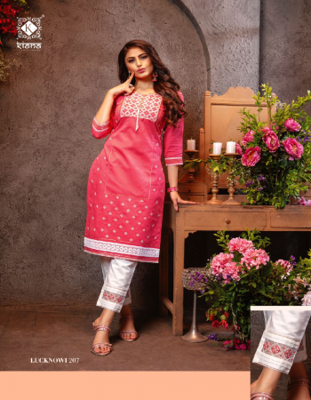 pink top - cotton heavy jacquard with heavy lucknowi & accessories | pent - dobi cotton embroidery work stylish pent  fabric embroidery  work casual