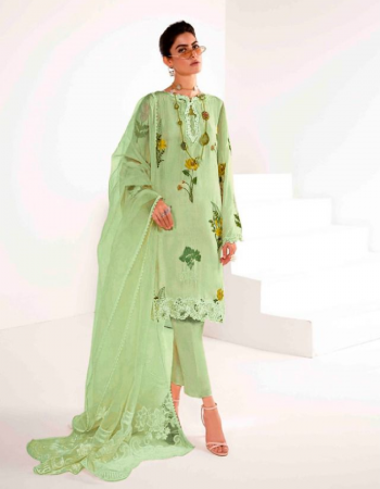 green top - heavy faux georgette with inner stitched ( with embroidery )   bottom - dull santoon full stitch   inner - santoon  dupatta - heavy organza ticu [ pakistani copy ] fabric embroidery work ethnic