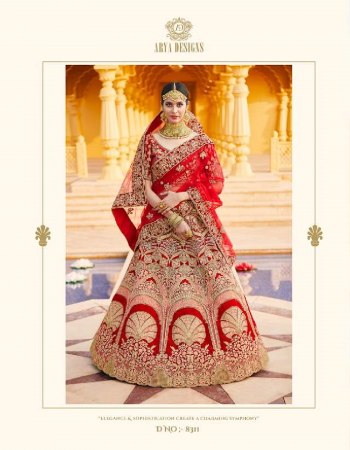 red blouse - velvet | lehenga - velvet | dupatta - soft net | size - ( semi - stitched ) up to 42 inches bust  & waist  fabric hand work & embroidery work ethnic