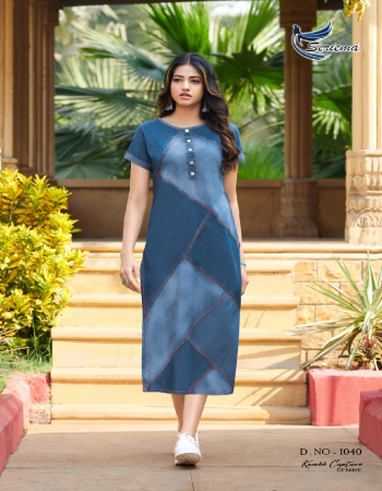 blue pure 100% cotton denim fabric fancy work work casual