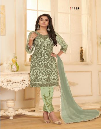 green top - heavy net with fancy dory embroidery work | bottom - devsena satin with patch work ( 2m) | dupatta - net with 4 side border ( 2.4 m) [ master copy ] fabric embroidery work casual