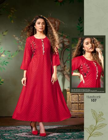 red rayon weving sriram buti bombay fabric with handwork  fabric handwork work casual