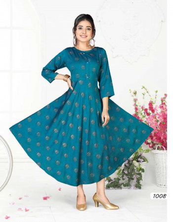 sky blue rayon fabric printed work casual